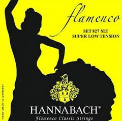Hannabach 827SLT Yellow FLAMENCO Струны для классической гитары желтый нейлон/посеребренные