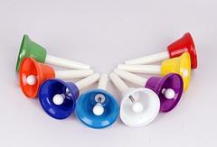 Fleet HB88 Цветные колокольчики с язычками, на ручках, 8шт