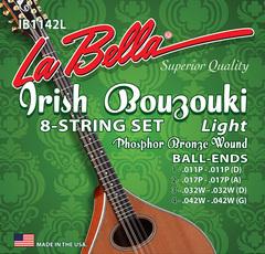La Bella IB1142L Комплект струн для ирландского бузуки, фосф.бронза, 11-42