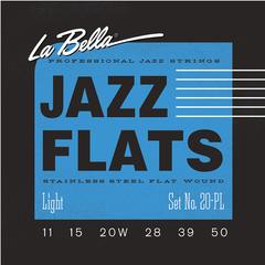 La Bella 20PL Jazz Flats Комплект струн для джазовой электрогитары, никелированные, Light 11-50