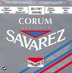 Savarez 500ARJ Alliance Corum Комплект струн для классической гитары, смешанное натяжение, посеребренные