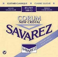 Savarez 500CJ New Cristal Corum Комплект струн для классической гитары, сильное натяжение, посеребренные