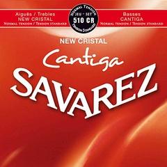 Savarez 510CR New Cristal Cantiga Комплект струн для классической гитары, норм.натяжение, посеребренные
