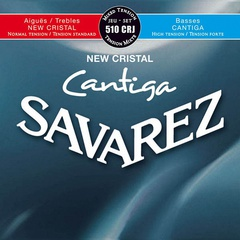 Savarez 510CRJ New Cristal Cantiga Комплект струн для классической гитары, смешанное натяжение, посеребренные