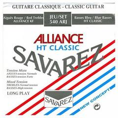 Savarez 540ARJ Alliance HT Classic Комплект струн для классической гитары, смешанное натяжение, посеребренные