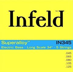 Thomastik IN345 Infield Комплект струн для 5-струнной бас-гитары, круглая оплетка, 45-125