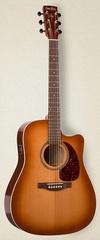 Simon&Patrick CWGT Vintage Burst Cedar QIT Электроакустическая гитара, с чехлом