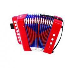 Aurus UC218-R аккордеон кнопочный сувенирный, красный, с футляром